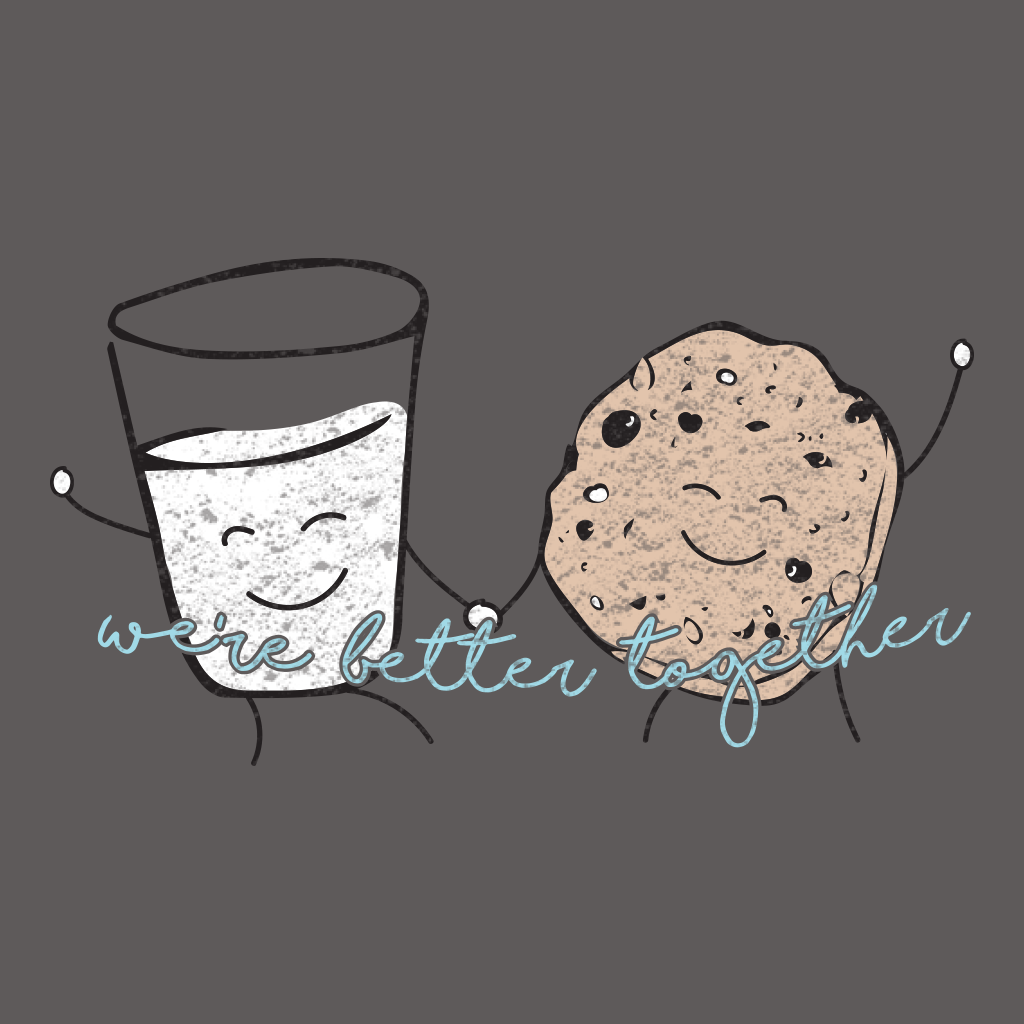 Big Little Cookie and Milk Design