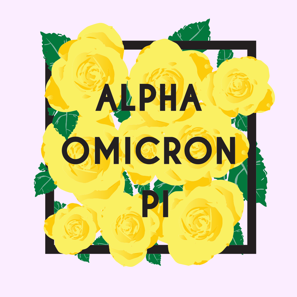 Alpha Omicron Pi Box Floral Design