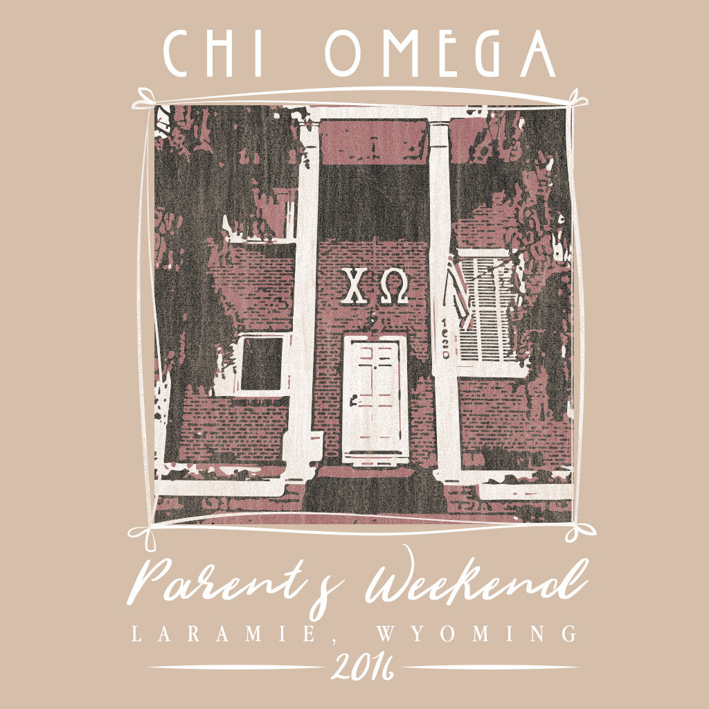 Chi Omega Hand Drawn Parent's Weekend Design