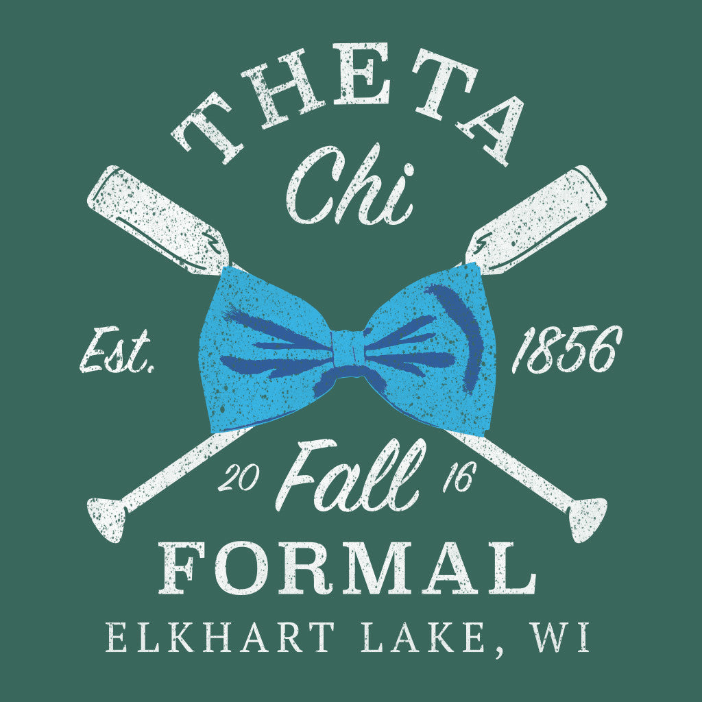 Theta Chi Fall Formal Bow Tie Design