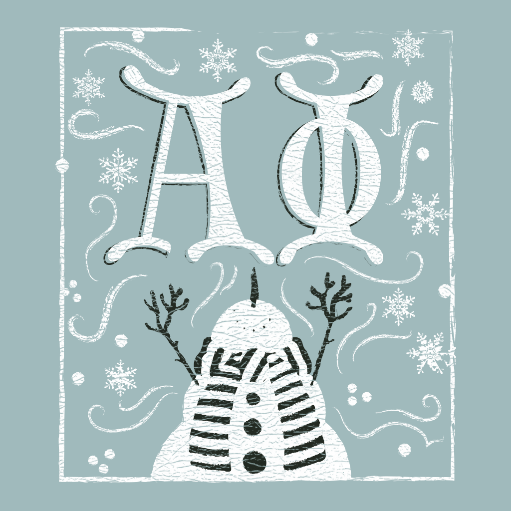Alpha Phi Winter Wonderland Design