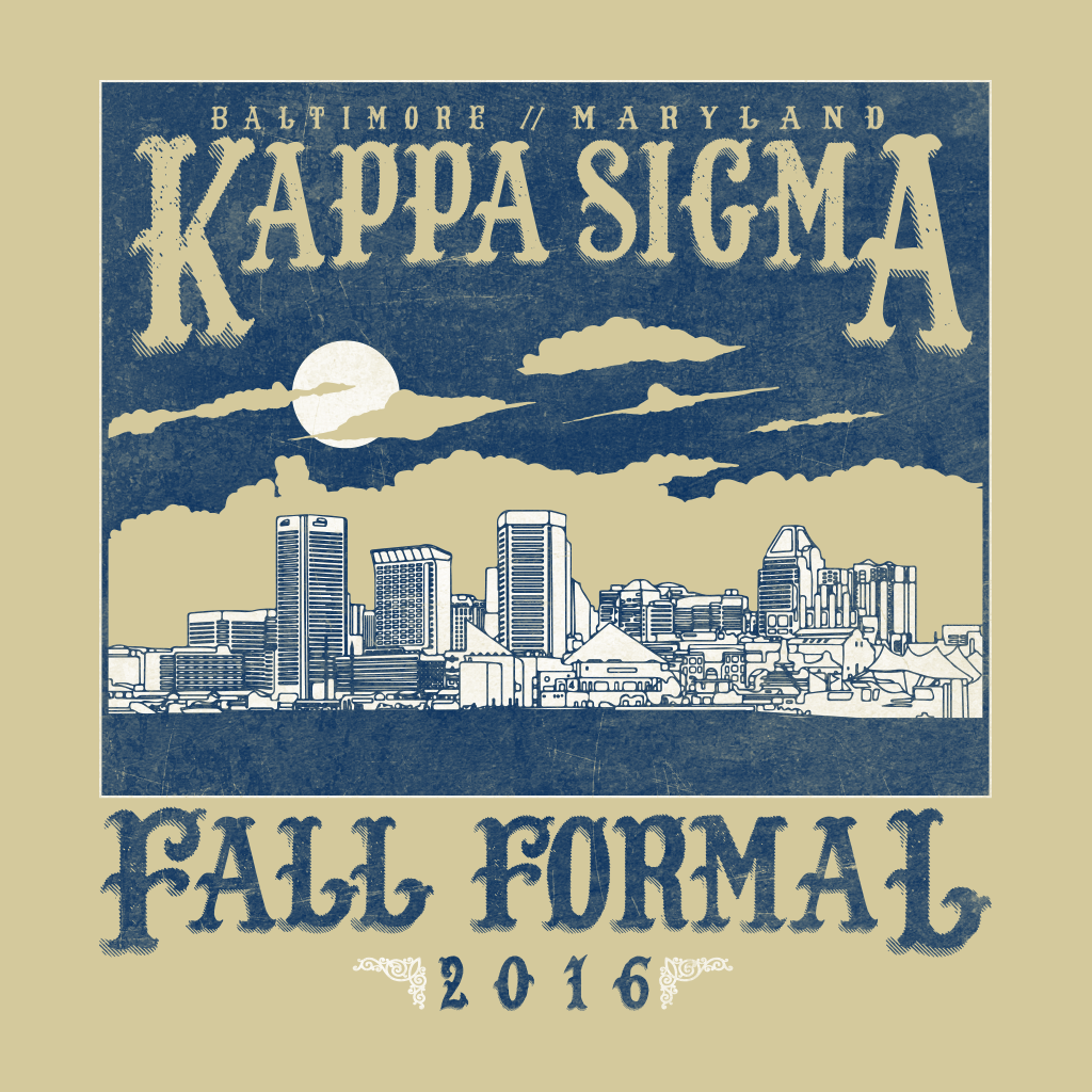 Kappa Sigma Fall Formal Skyline Design