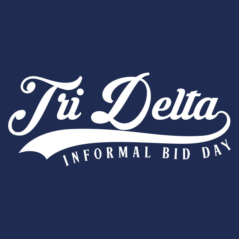 Tri Delta Classic Baseball Bid Day Design