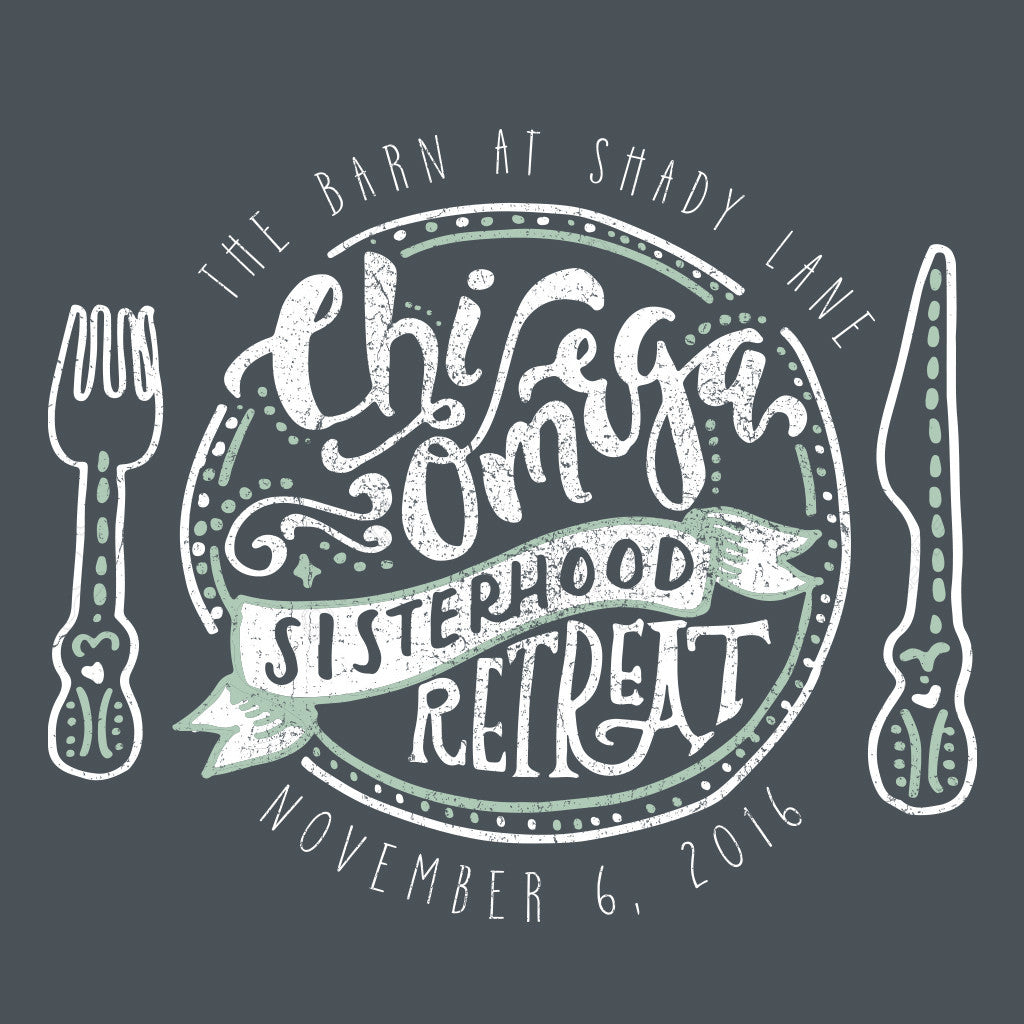 Chi Omega Hand Drawn Retreat Design