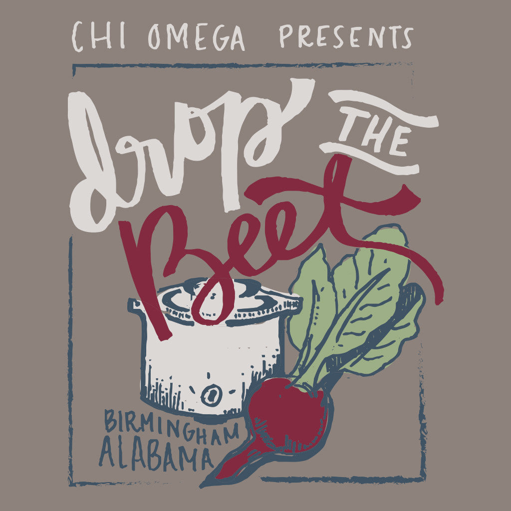 Chi Omega Drop the Beat Design