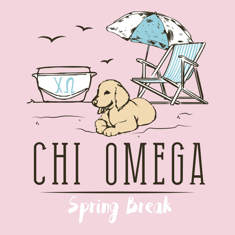 Chi Omega Spring Break Beach Design