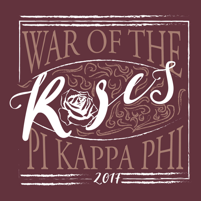 Pi Kappa Phi War of Roses Design
