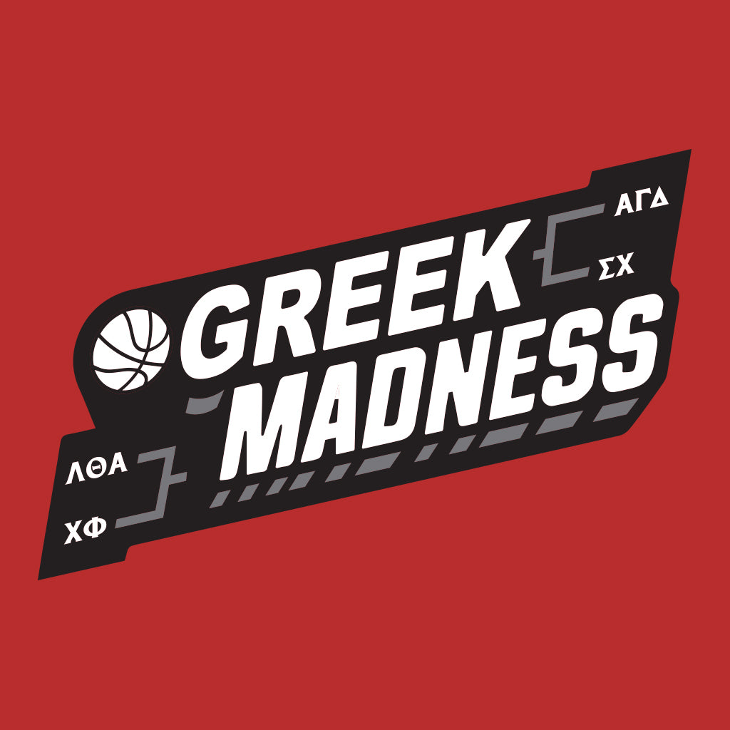 Greek Madness Basketball Design
