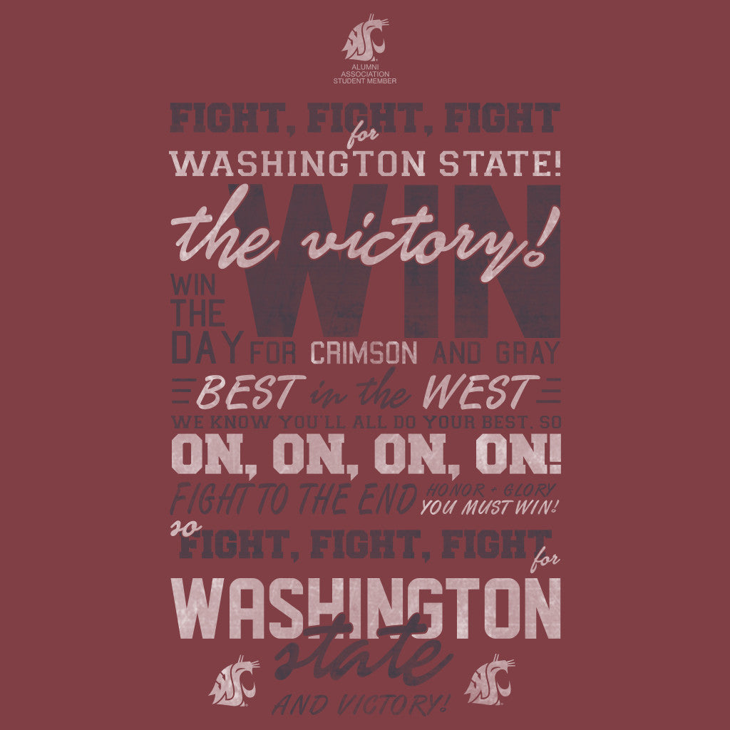Washington State Spirit Typography Design