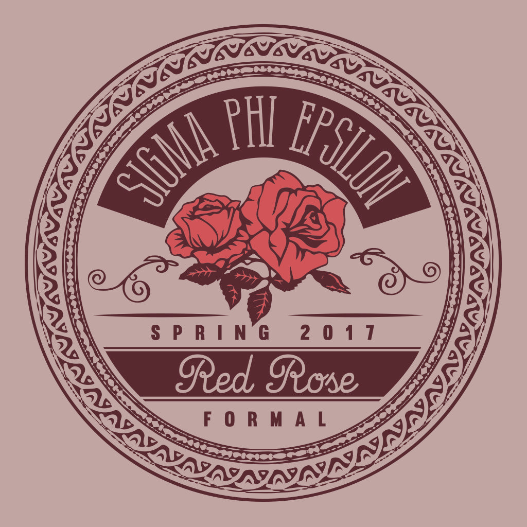 Sigma Phi Epsilon Red Rose Formal Design