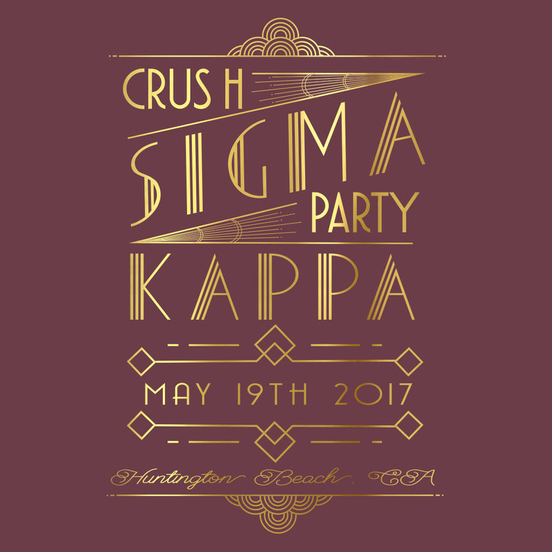 Sigma Kappa Crush Gatsby Design
