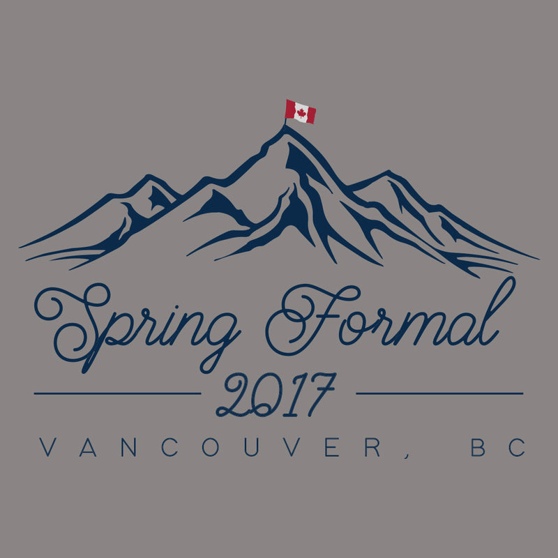Spring Formal Mountain Top Design