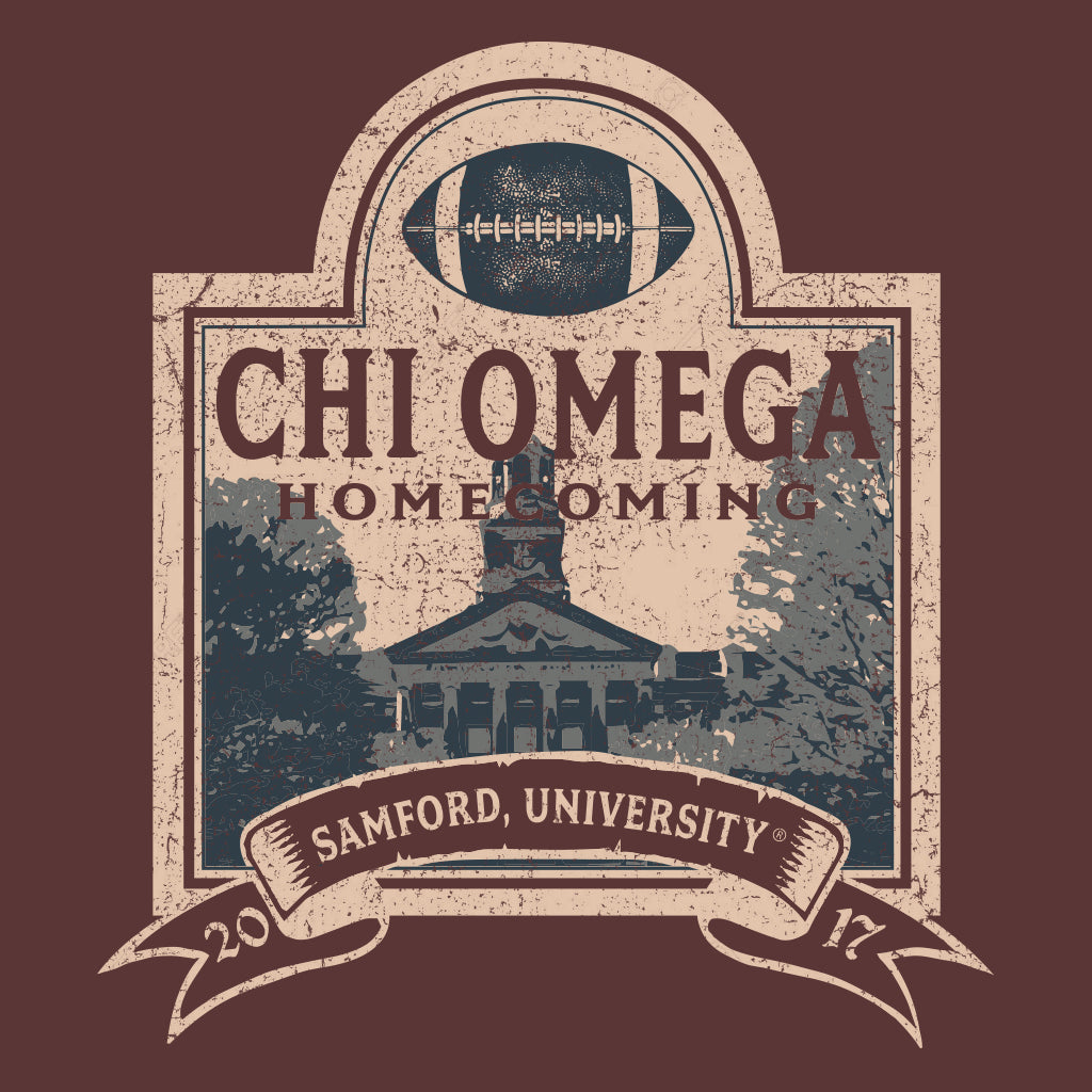 Chi Omega Vintage Homecoming Design