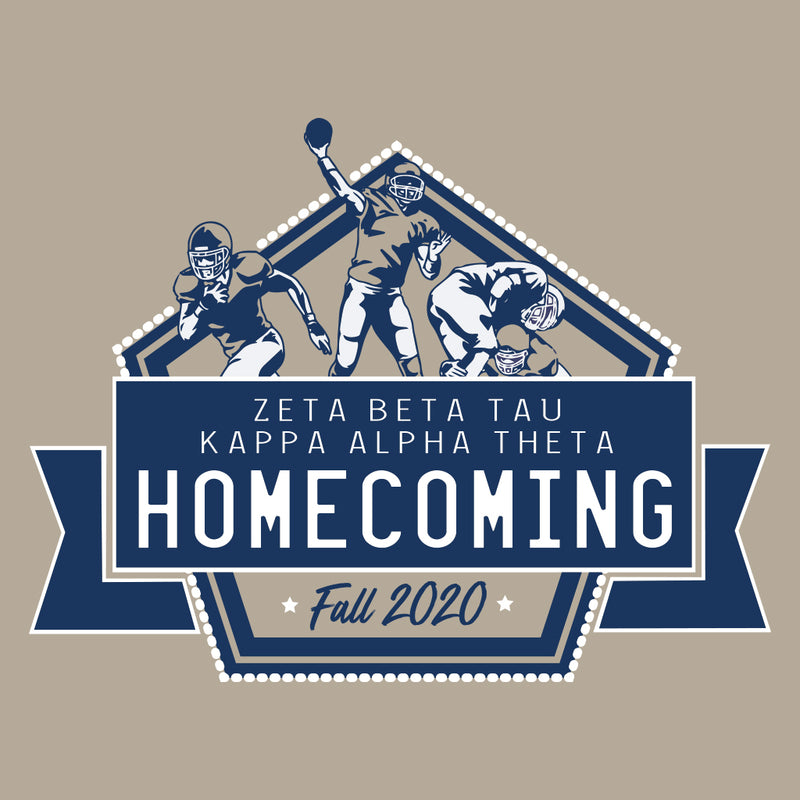 Kappa Alpha Theta Classic Football Homecoming Design