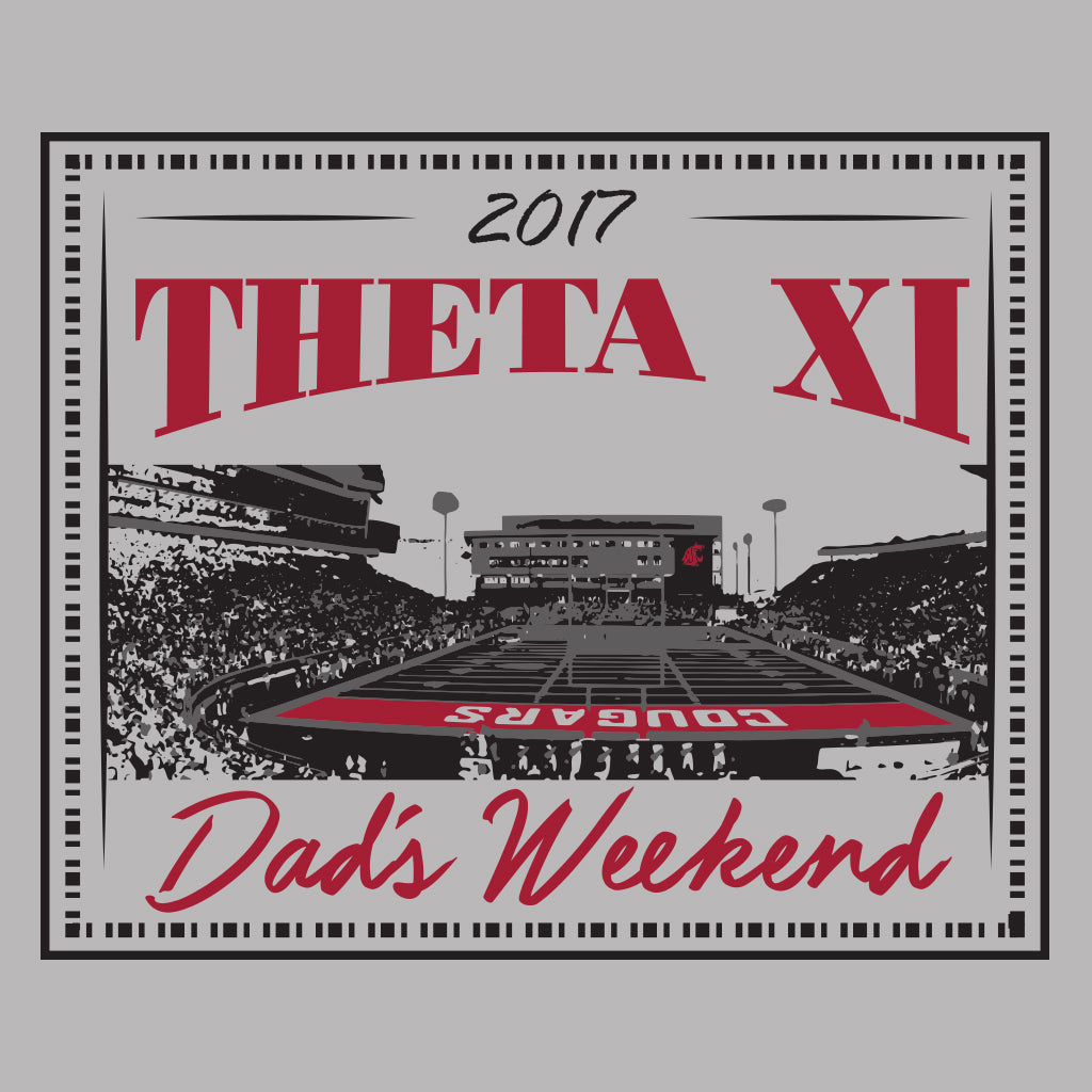 Theta Xi Stadium Dad's Weekend Design