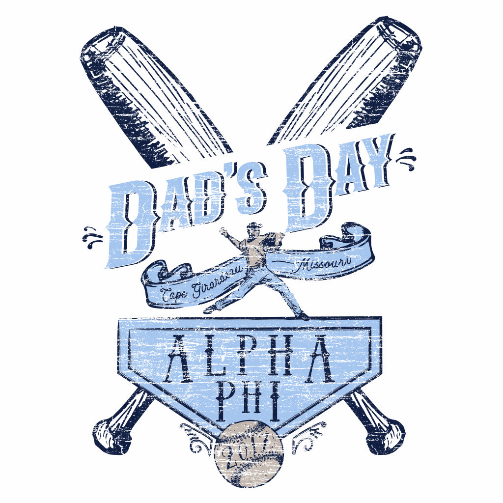 Alpha Phi Dad's Day Ballpark Design