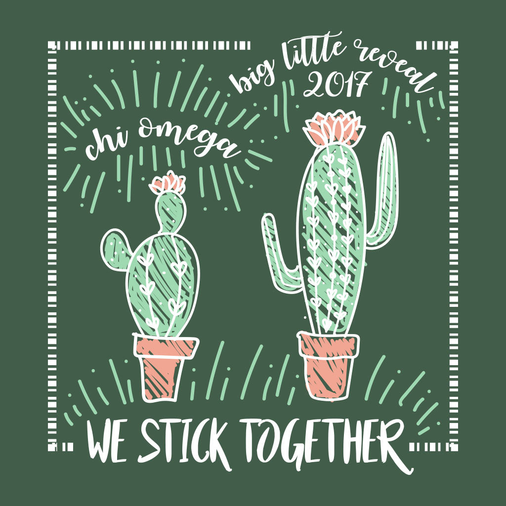 Chi Omega Cacti Big Little Design
