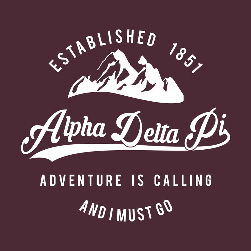 Alpha Delta Pi Adventure is Calling Design