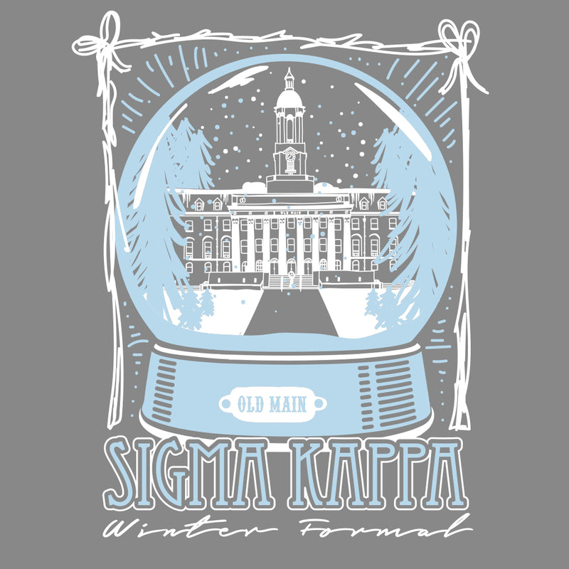 Sigma Kappa Snow Globe Formal Design
