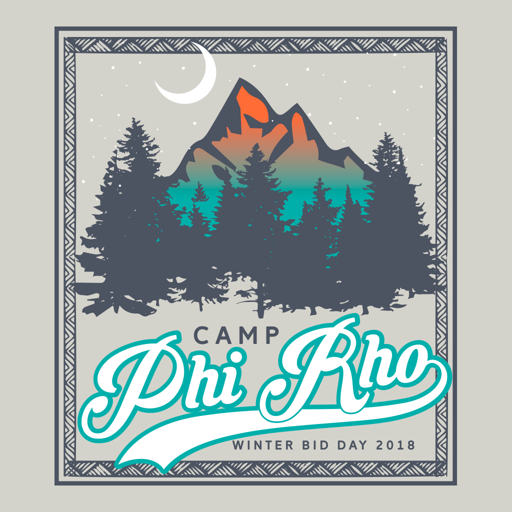 Camp Phi Rho Winter Bid Day Design