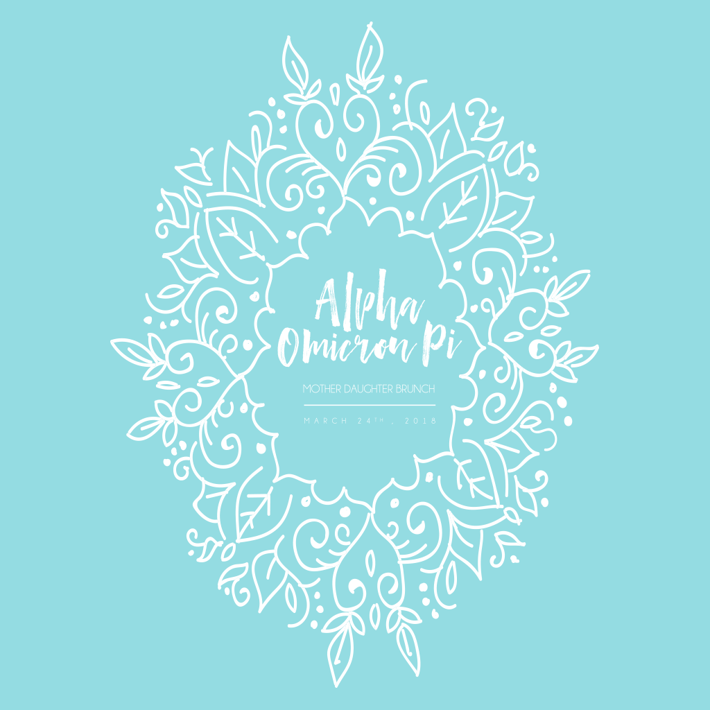 Alpha Omicron Pi Mother Daughter Brunch Design