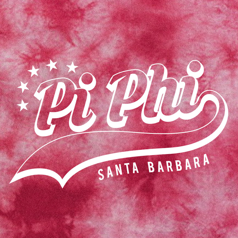 Pi Beta Phi Retro Tie Dye Design