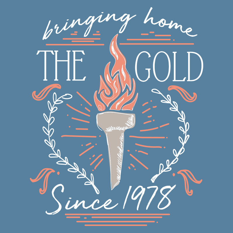 Bringing Home the Gold Sketch Design
