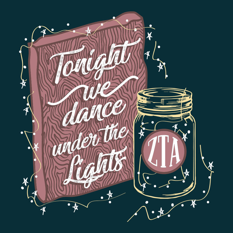 Zeta Tau Alpha String Lights Formal Design