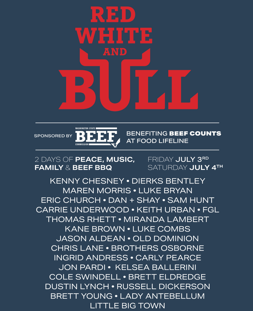 Red White & Bull Concert Tee - Ladies T-Shirt (Navy Frost)