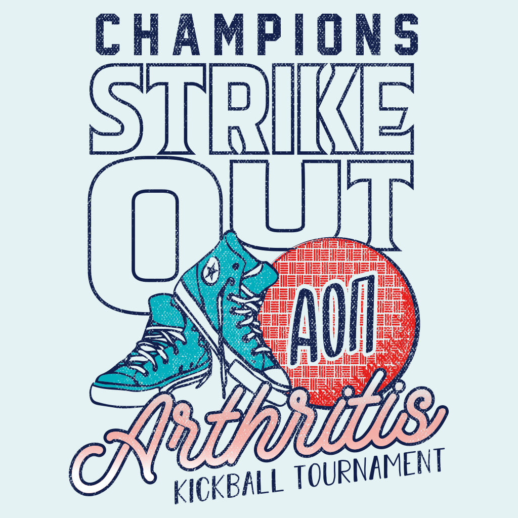 Alpha Omicron Pi Strike Out Arthritis Design