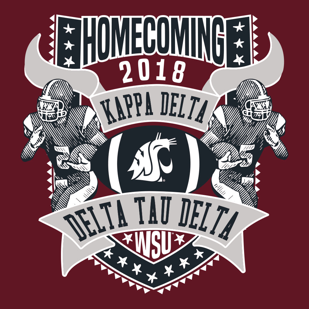 Kappa Delta & Delta Tau Delta Classic Athletic Homecoming Design