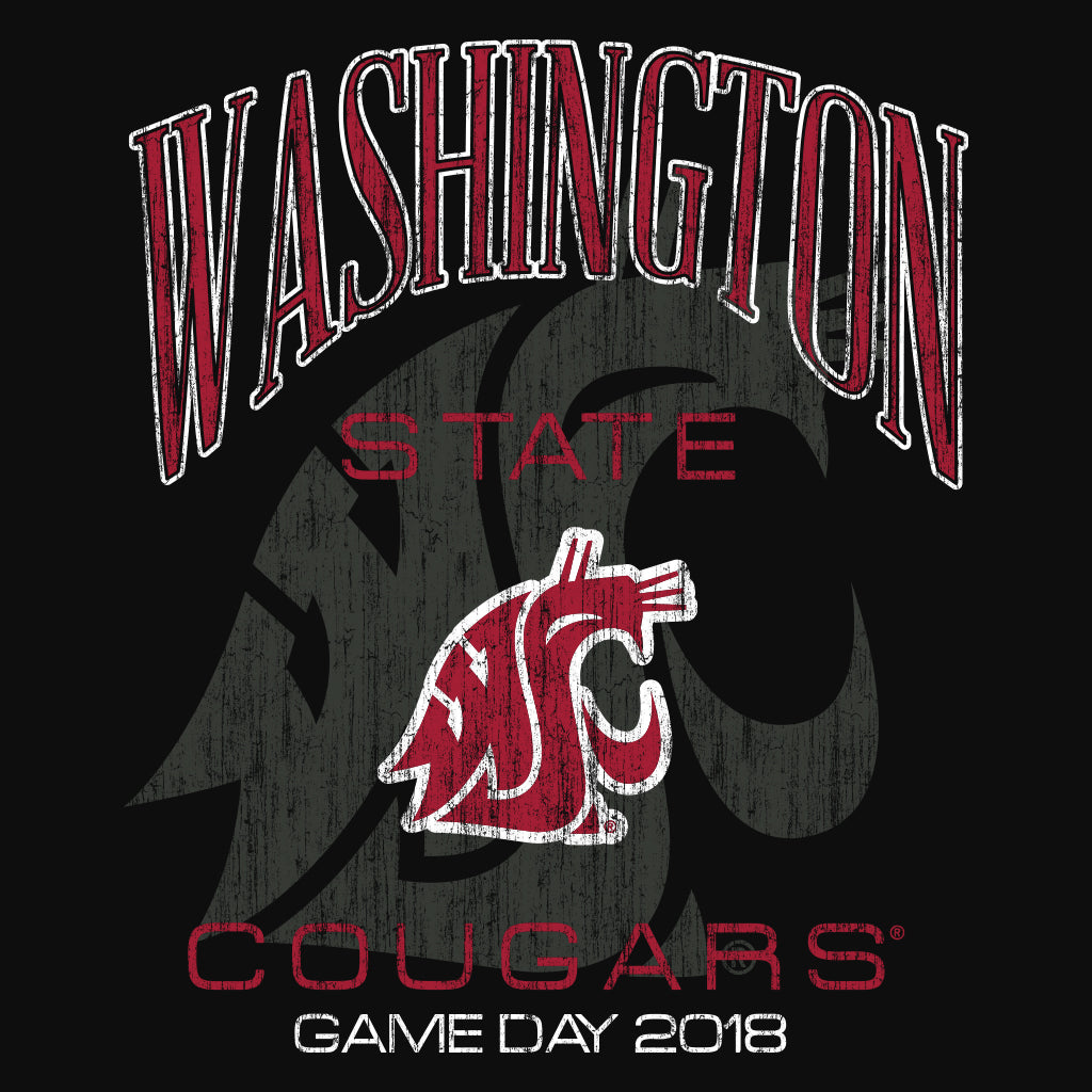 Washington State Cougars Game Day Football Design