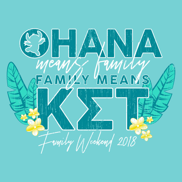Ohana Means Family Tropical Family Weekend Design