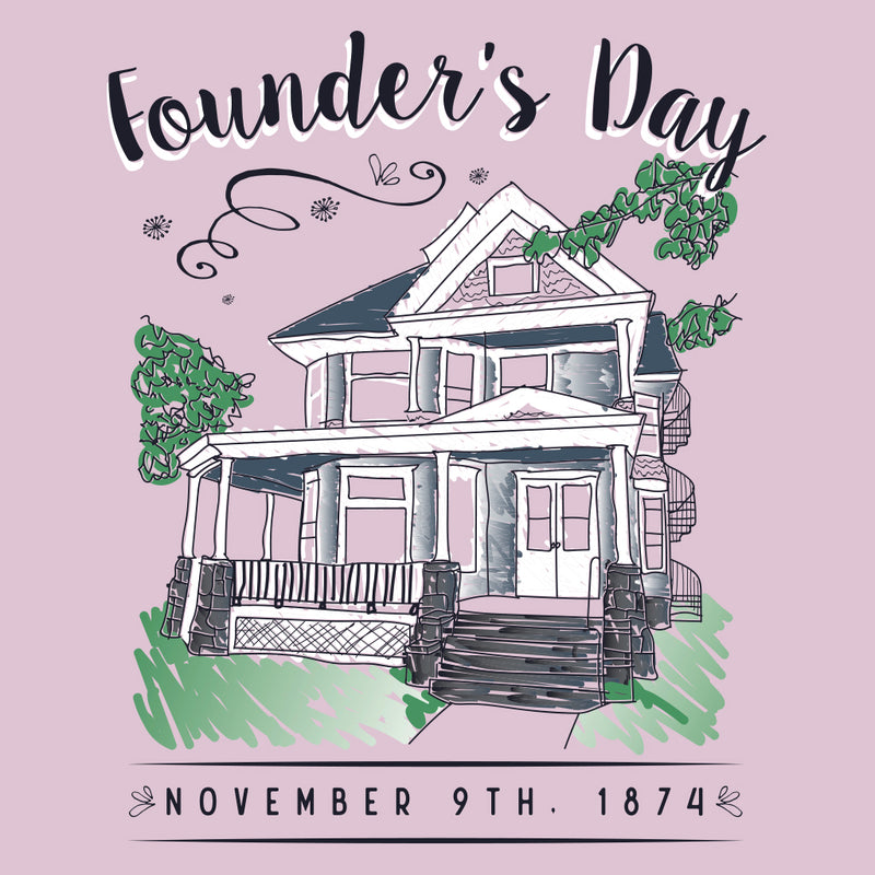 Sigma Kappa Founders Day House Sketch Design