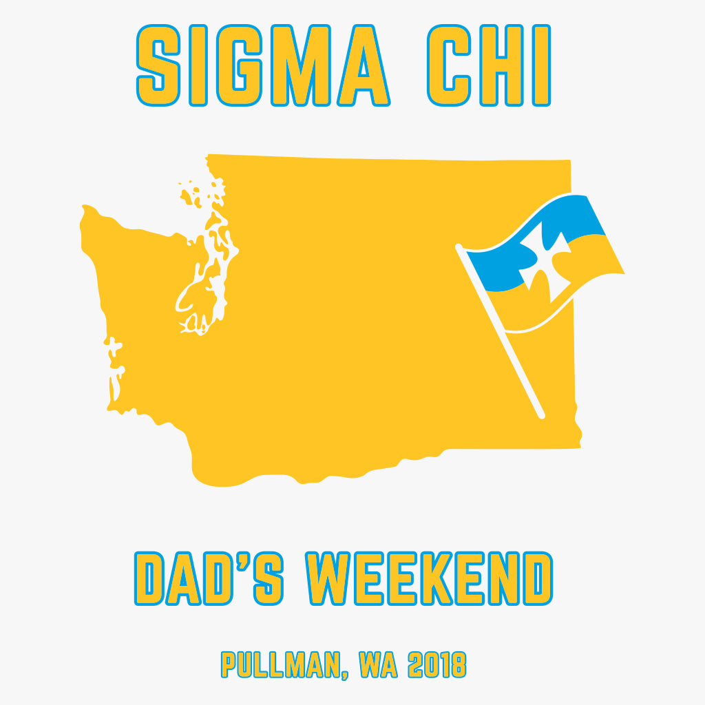 Sigma Chi Dad's Weekend State & Flag Design