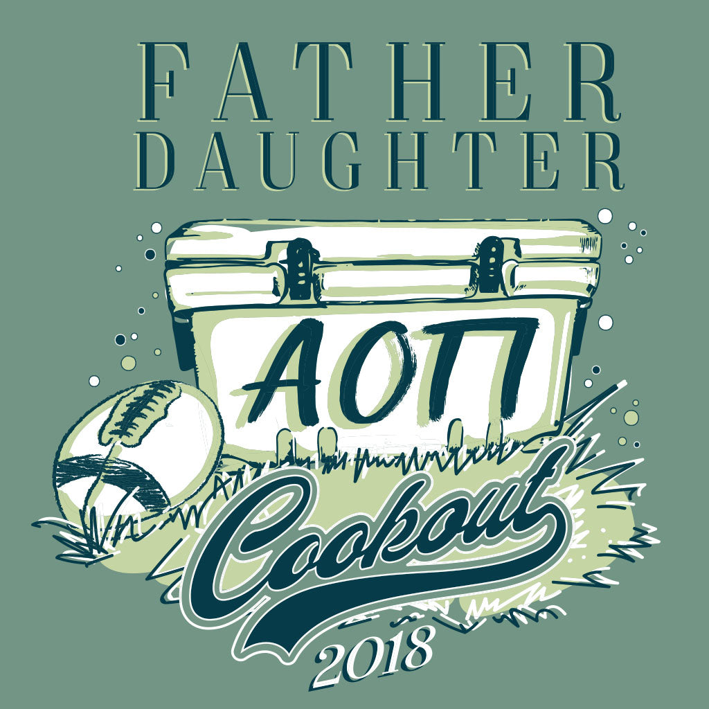Alpha Omicron Pi Father Daughter Cookout Design