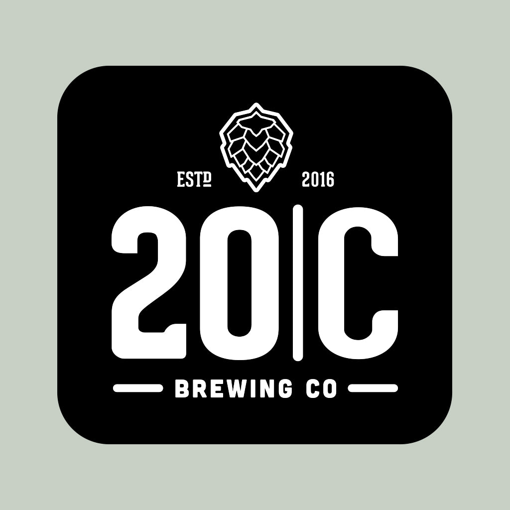 20 Corners Brewery Simple Badge Design