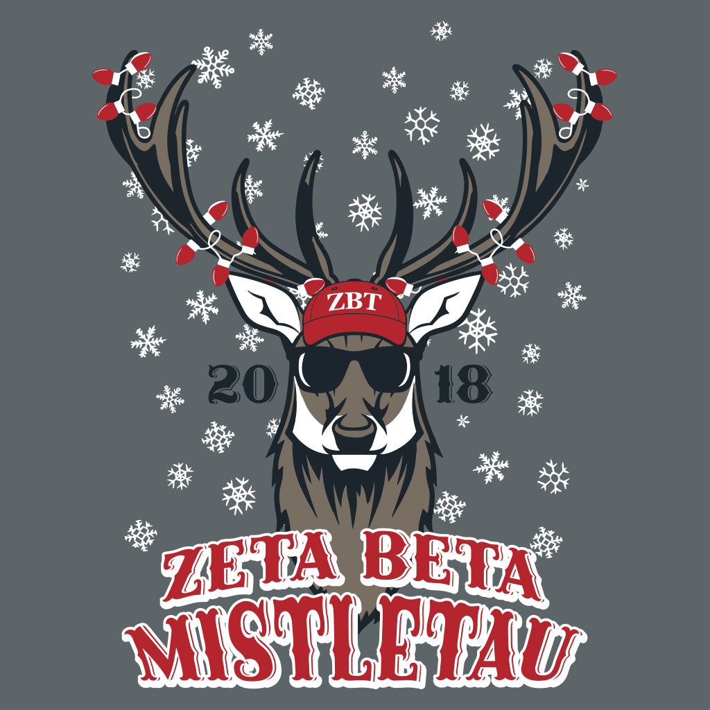 Zeta Beta Mistletau Holiday Design