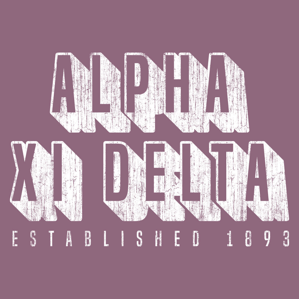 Alpha Xi Delta Block Lettering Chapter PR Design