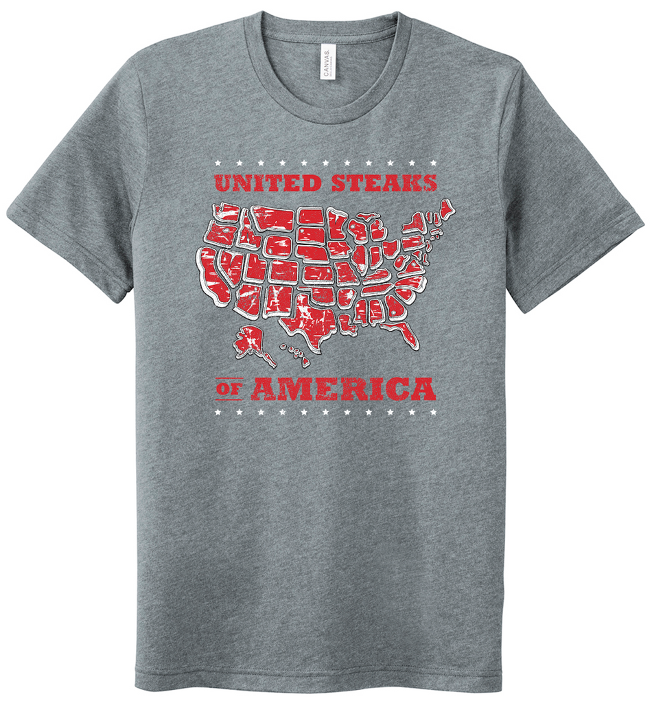 Red White & Bull Concert Tee - Mens/Unisex T-Shirt (Athletic Heather Grey)