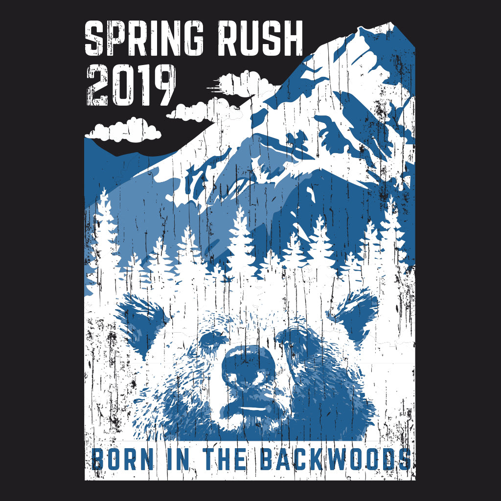 Born in the Backwoods Spring Rush Mountain Design