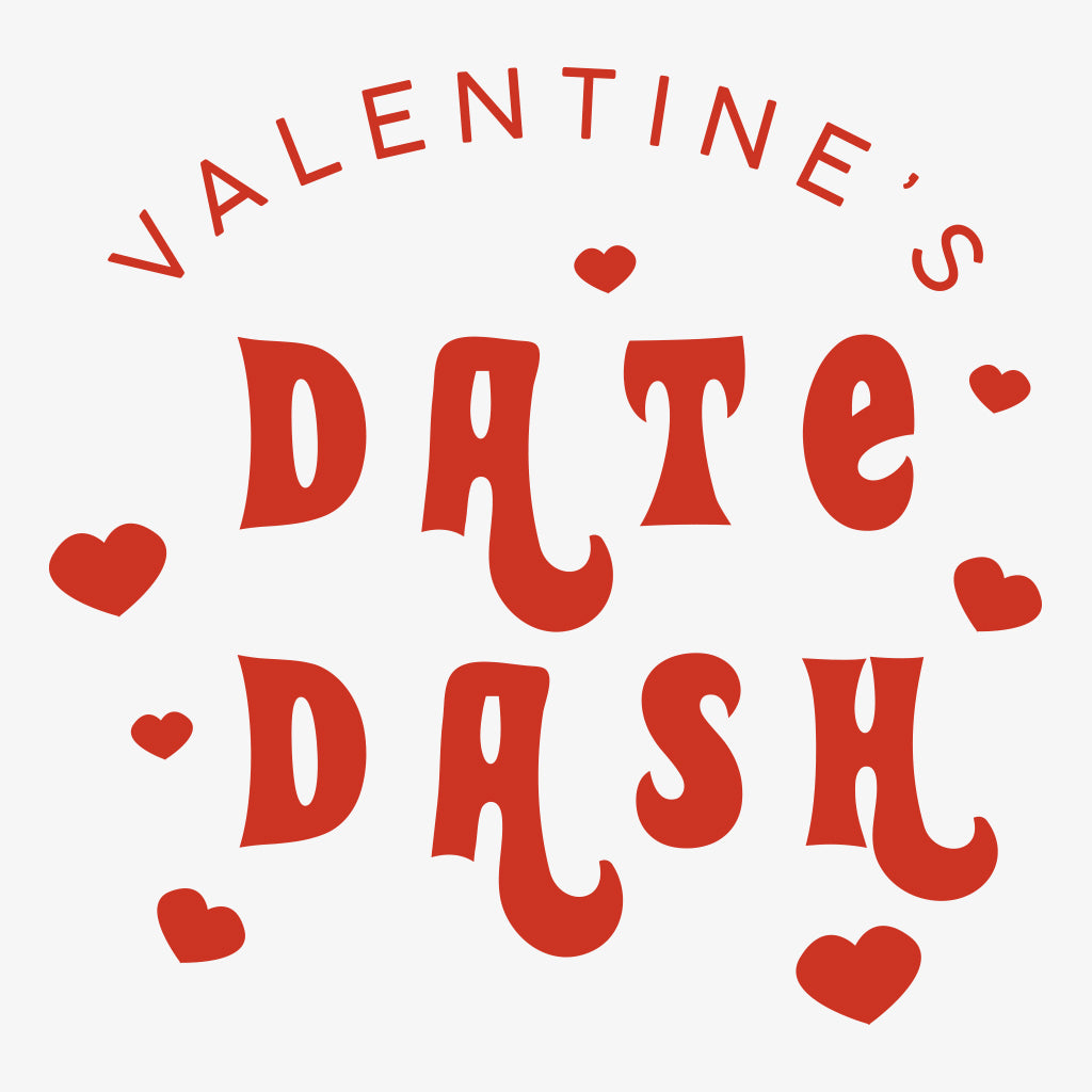 Alpha Omicron Pi Retro Valentine's Day Date Dash Design