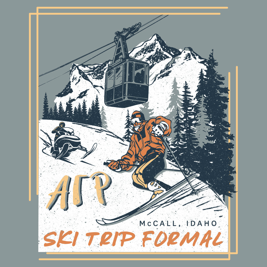 Alpha Gamma Rho Ski Trip Formal Design