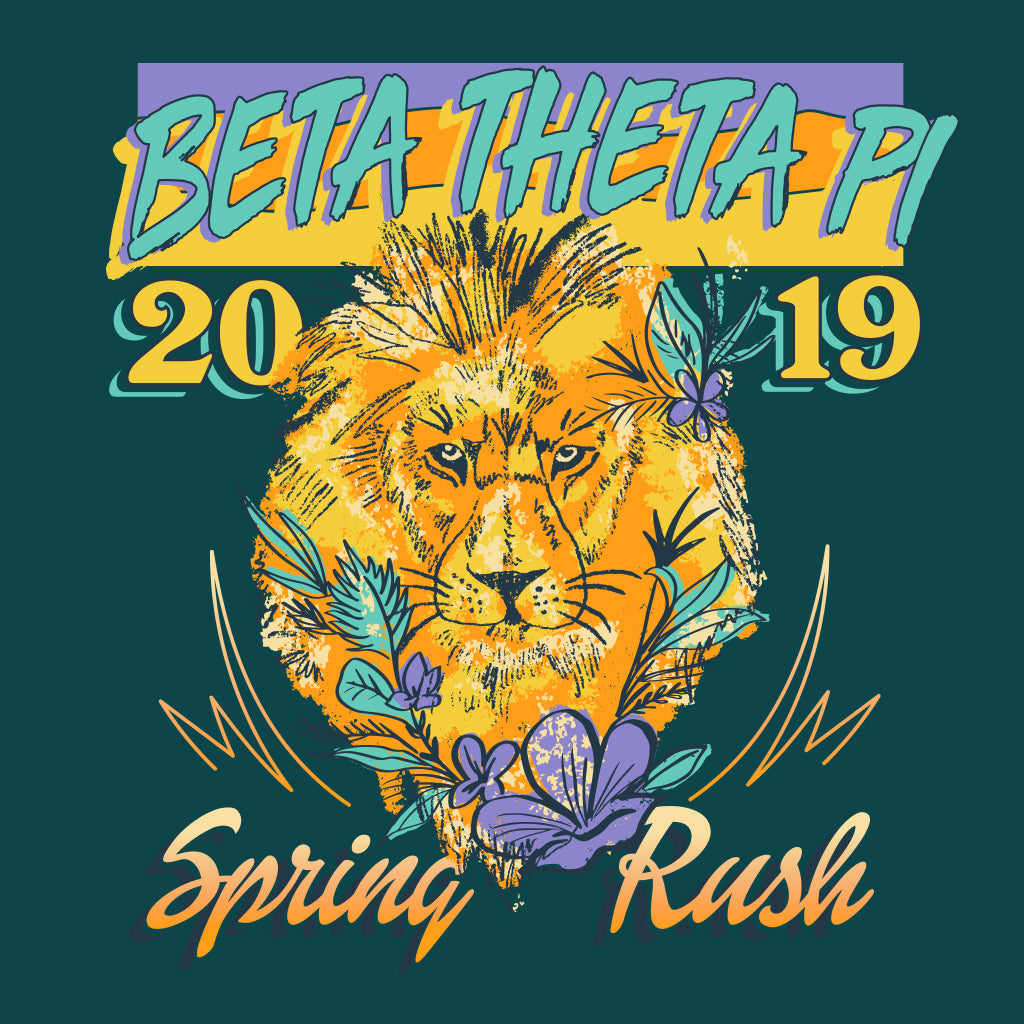 Beta Theta Pi Spring Rush Lion Design