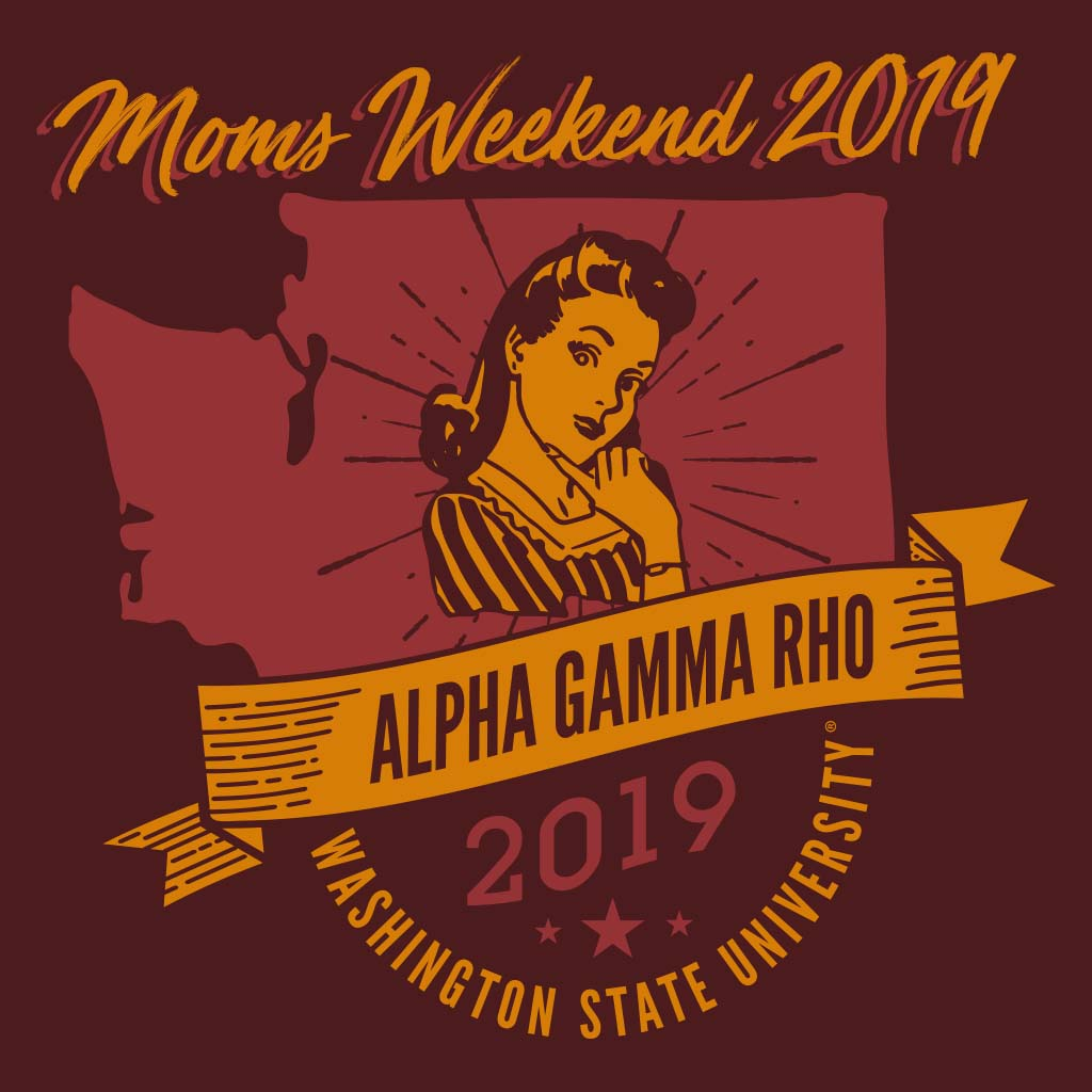 Alpha Gamma Rho Washington State Mom's Weekend Design