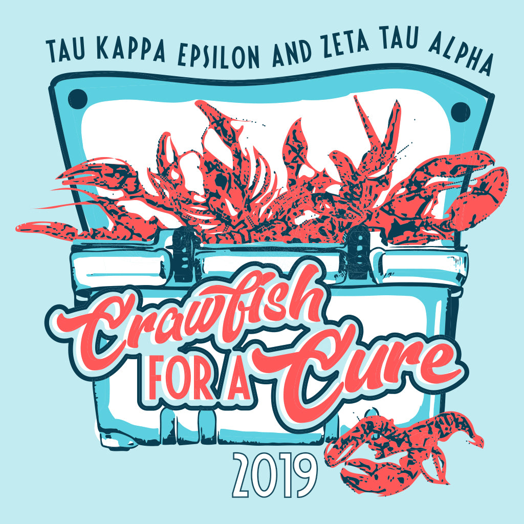 Zeta Tau Alpha Crawfish for a Cure Design
