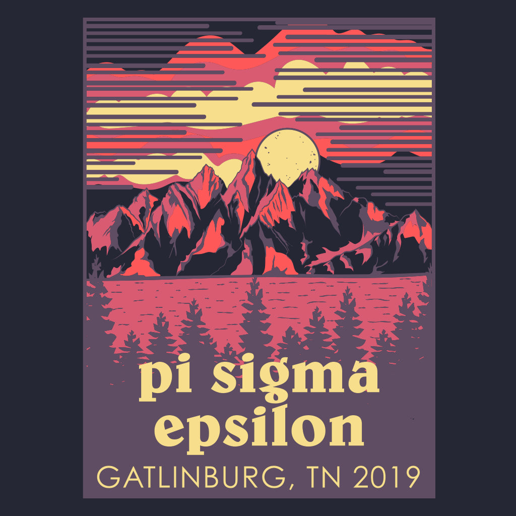 Pi Sigma Epsilon Mountain Sunset Spring Formal Design