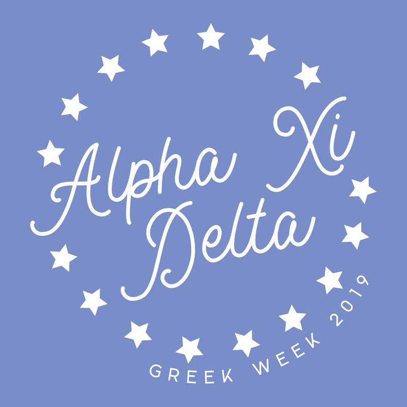 Alpha Xi Delta Greek Week Spirit Design