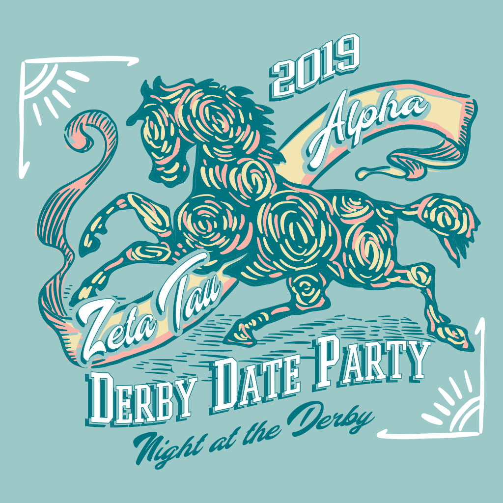 Zeta Tau Alpha Derby Date Party Design