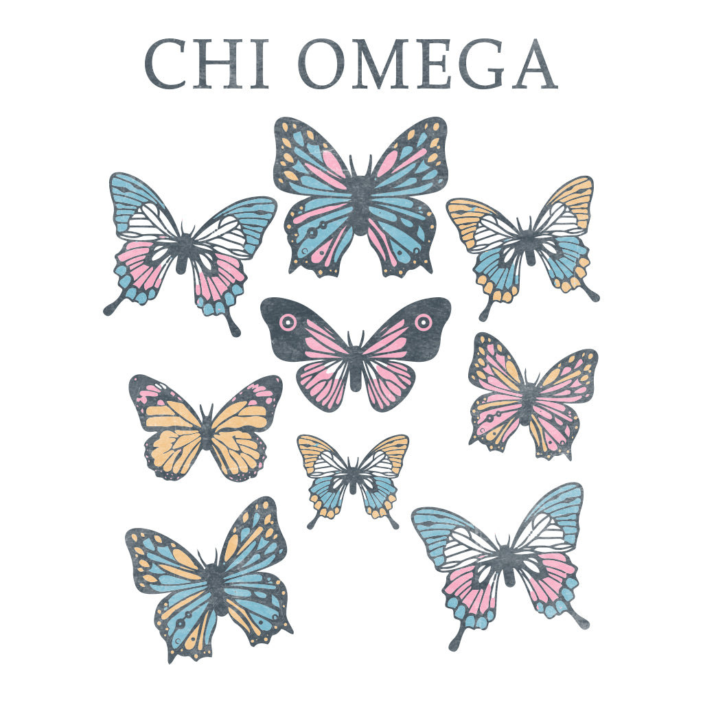 Chi Omega Butterfly PR Design